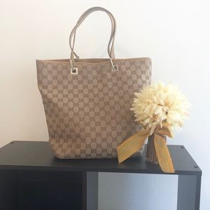Authentic Gucci GG Monogram Tote Bag.